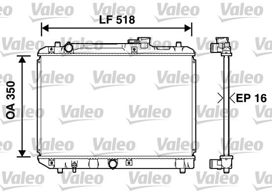 Radiateur, refroidissement du moteur - VALEO - 732750