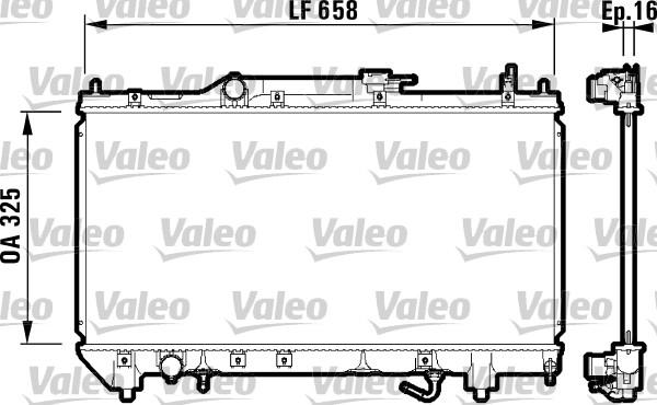 Radiateur, refroidissement du moteur - VALEO - 732753