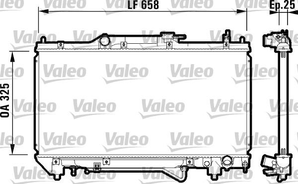 Radiateur, refroidissement du moteur - VALEO - 732754