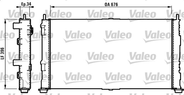 Radiateur, refroidissement du moteur - VALEO - 732755