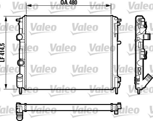 Radiateur, refroidissement du moteur - VALEO - 732761