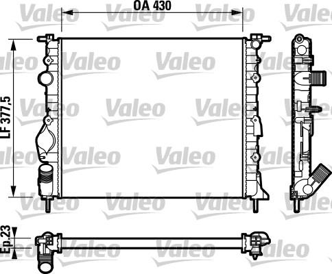 Radiateur, refroidissement du moteur - VALEO - 732765