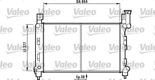 Radiateur, refroidissement du moteur - VALEO - 732780