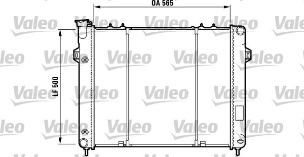 Radiateur, refroidissement du moteur - VALEO - 732782