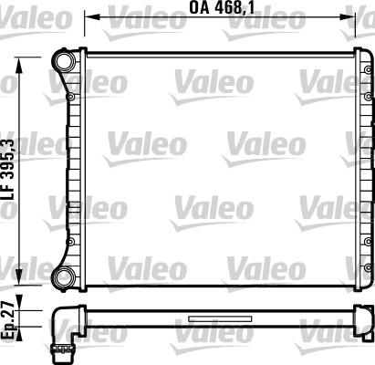 Radiateur, refroidissement du moteur - VALEO - 732785