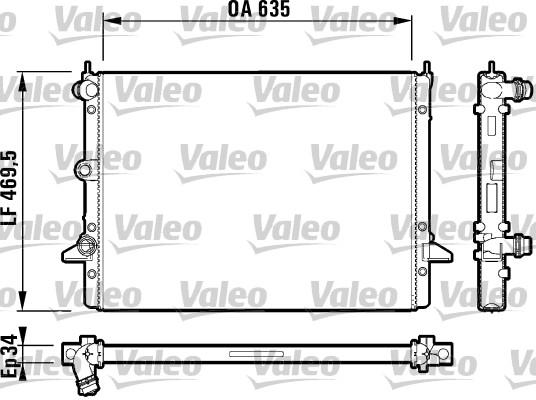 Radiateur, refroidissement du moteur - VALEO - 732786