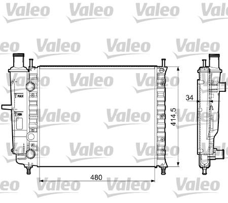 Radiateur, refroidissement du moteur - VALEO - 732788