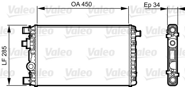 Radiateur, refroidissement du moteur - VALEO - 732789