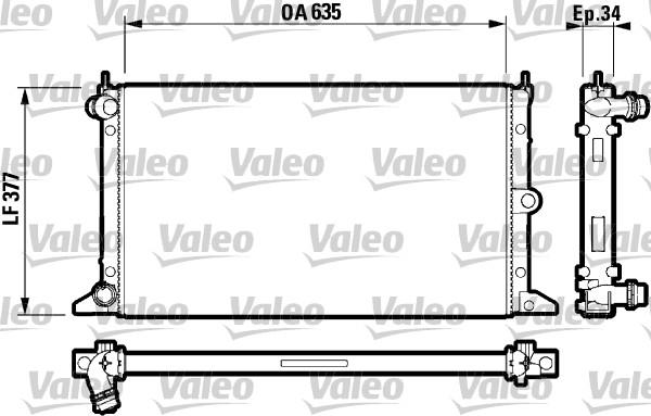 Radiateur, refroidissement du moteur - VALEO - 732790