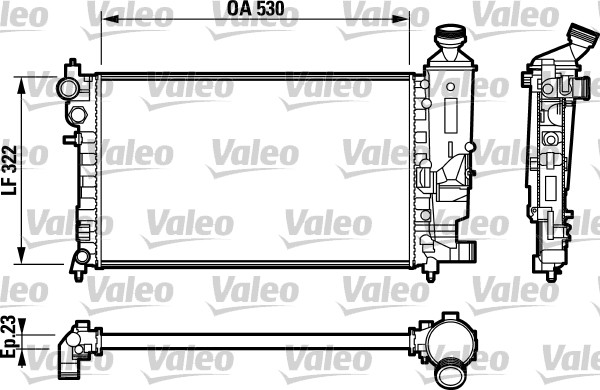 Radiateur, refroidissement du moteur - VALEO - 732794