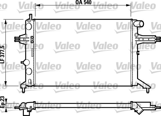 Radiateur, refroidissement du moteur - VALEO - 732795