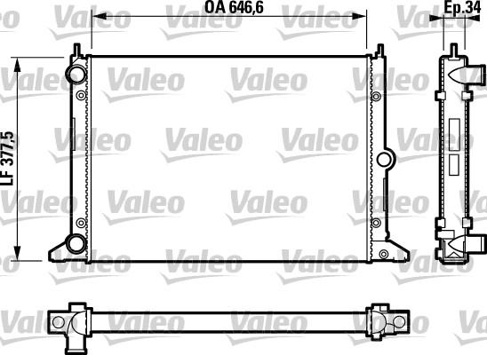 Radiateur, refroidissement du moteur - VALEO - 732797
