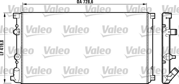 Radiateur, refroidissement du moteur - VALEO - 732798