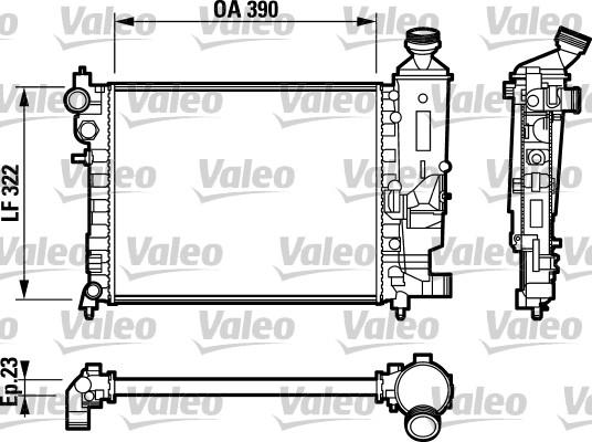 Radiateur, refroidissement du moteur - VALEO - 732807