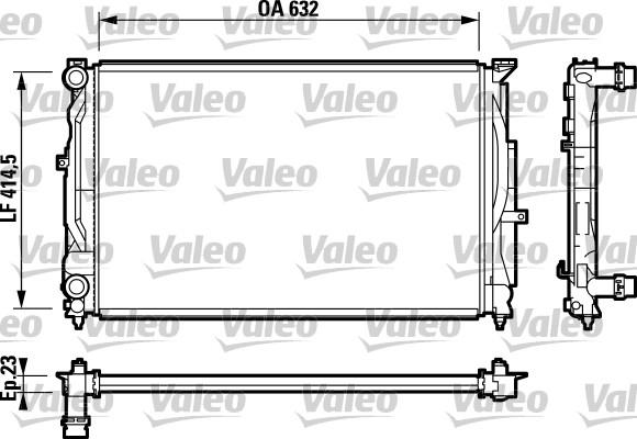Radiateur, refroidissement du moteur - VALEO - 732811