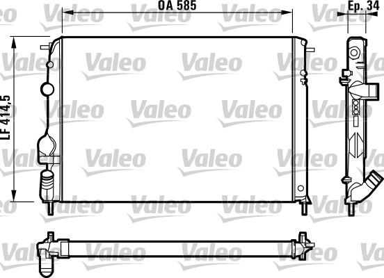 Radiateur, refroidissement du moteur - VALEO - 732817