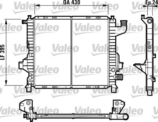 Radiateur, refroidissement du moteur - VALEO - 732819