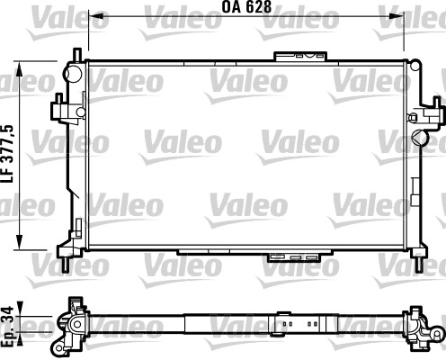 Radiateur, refroidissement du moteur - VALEO - 732824