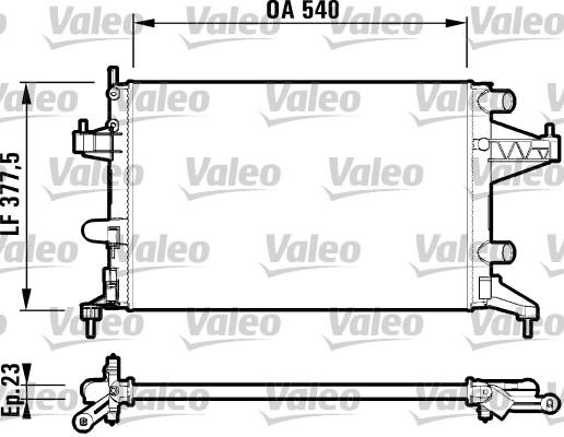 Radiateur, refroidissement du moteur - VALEO - 732825