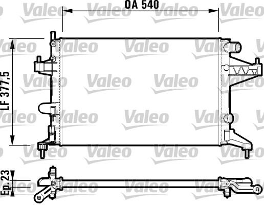 Radiateur, refroidissement du moteur - VALEO - 732826