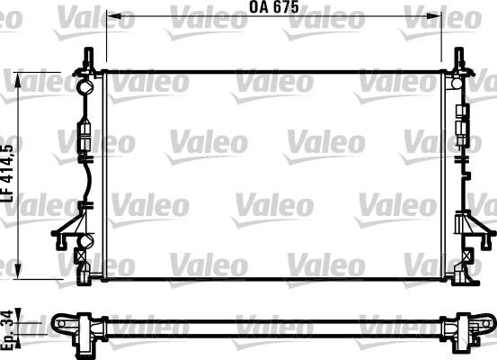 Radiateur, refroidissement du moteur - VALEO - 732828