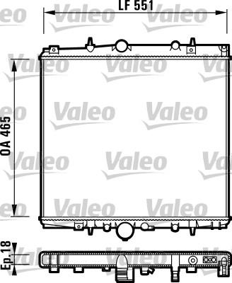 Radiateur, refroidissement du moteur - VALEO - 732830