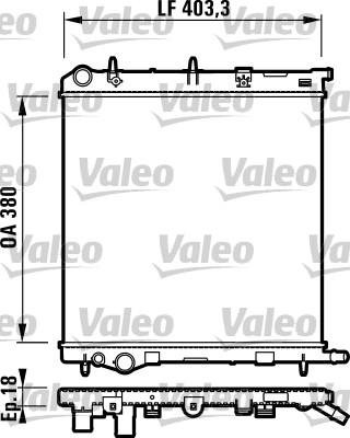 Radiateur, refroidissement du moteur - VALEO - 732831
