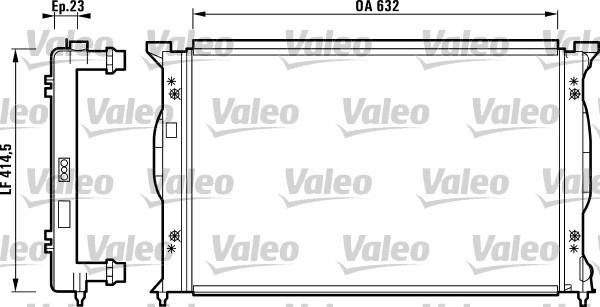 Radiateur, refroidissement du moteur - VALEO - 732839