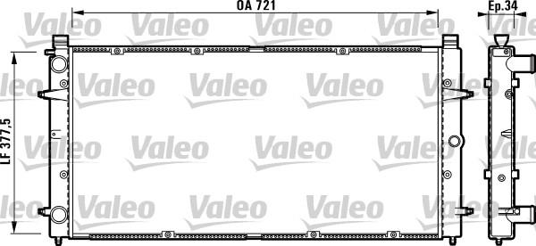 Radiateur, refroidissement du moteur - VALEO - 732845