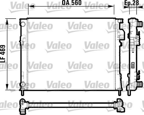 Radiateur, refroidissement du moteur - VALEO - 732846
