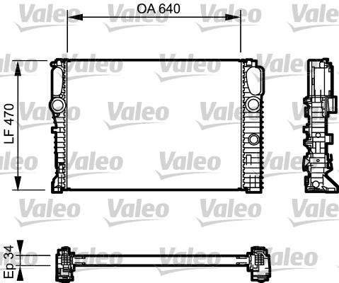 Radiateur, refroidissement du moteur - VALEO - 732849