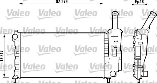 Radiateur, refroidissement du moteur - VALEO - 732851