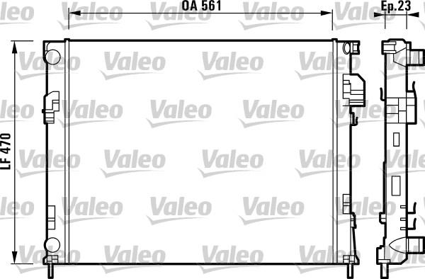 Radiateur, refroidissement du moteur - VALEO - 732853