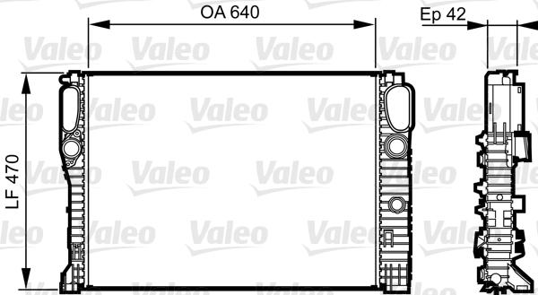 Radiateur, refroidissement du moteur - VALEO - 732855