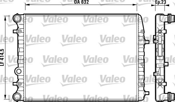 Radiateur, refroidissement du moteur - VALEO - 732862