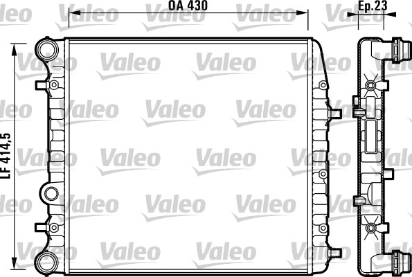 Radiateur, refroidissement du moteur - VALEO - 732863