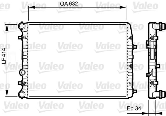 Radiateur, refroidissement du moteur - VALEO - 732864