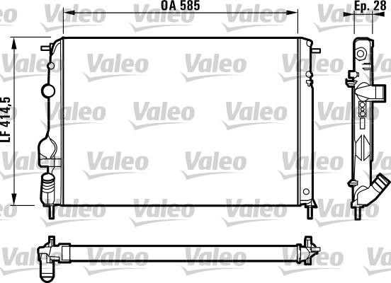 Radiateur, refroidissement du moteur - VALEO - 732866