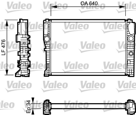 Radiateur, refroidissement du moteur - VALEO - 732870