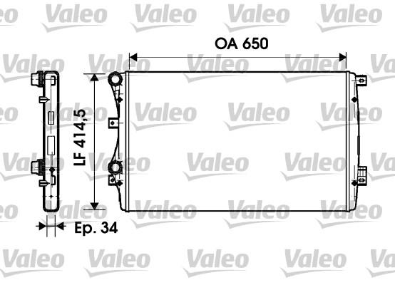 Radiateur, refroidissement du moteur - VALEO - 732872