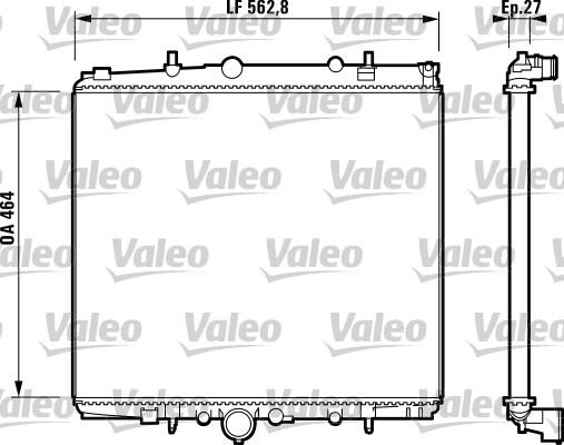 Radiateur, refroidissement du moteur - VALEO - 732880