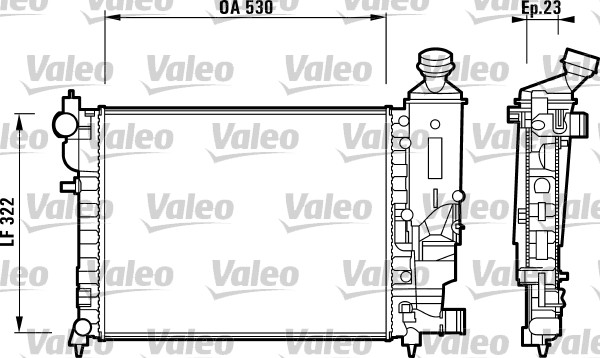 Radiateur, refroidissement du moteur - VALEO - 732882
