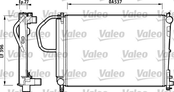 Radiateur, refroidissement du moteur - VALEO - 732883