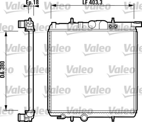 Radiateur, refroidissement du moteur - VALEO - 732885