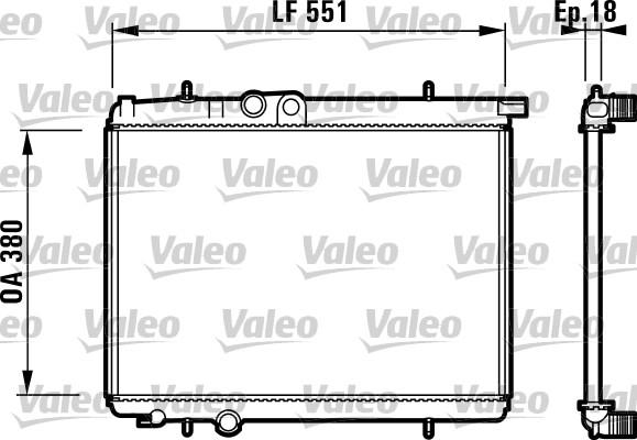 Radiateur, refroidissement du moteur - VALEO - 732886
