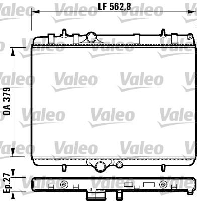 Radiateur, refroidissement du moteur - VALEO - 732888