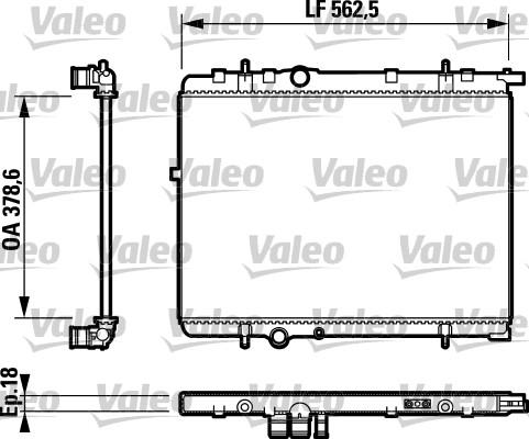 Radiateur, refroidissement du moteur - VALEO - 732891