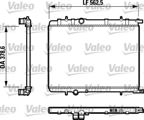 Radiateur, refroidissement du moteur - VALEO - 732892