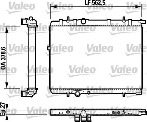 Radiateur, refroidissement du moteur - VALEO - 732893
