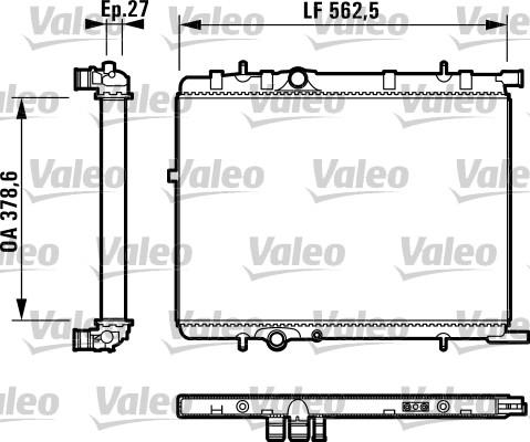 Radiateur, refroidissement du moteur - VALEO - 732895